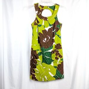 Trina Turk Sleeveless Shift Dress Tropical Print 2
